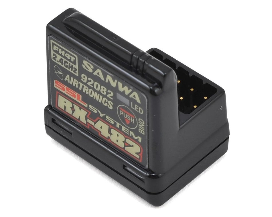 Sanwa-RX-482-2.4GHz-4-Channel-FHSS-4-SSL-Telemetry-Receiver-w/Internal-Antenna