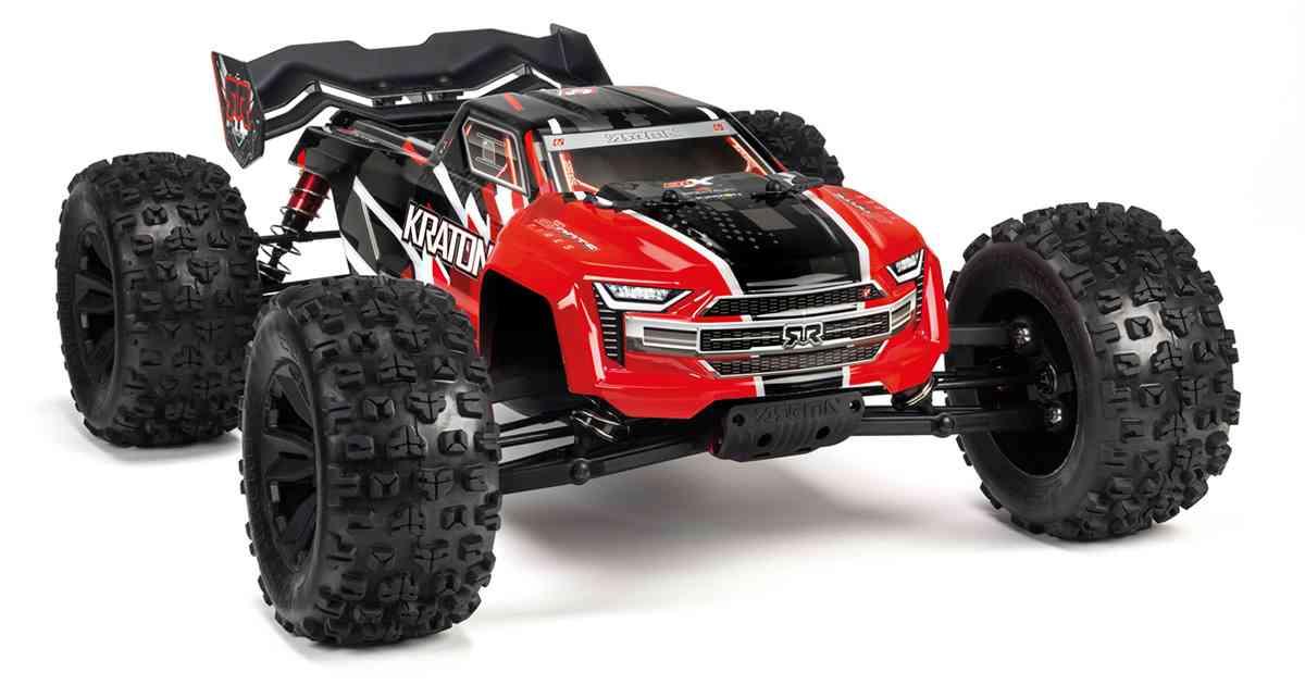 Arrma Kraton 6S BLX RTR 1/8 4WD Brushless Monster Truck (Red) (V5) w/SLT3 2.4GHz Radio