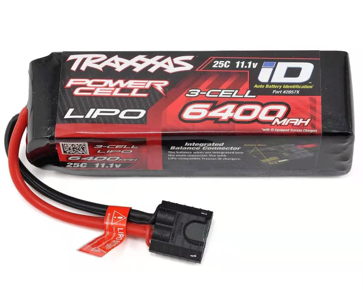 traxxas-3s-power-cell-25c-lipo-battery-w-id-connector-(11.1v-6400mah)