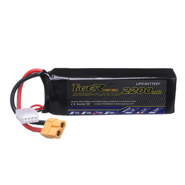 Tiger Power 11.V 2200mAh 45C 2-Cell Deans Connector T-Plug