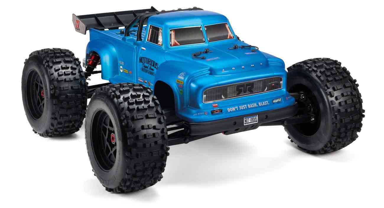 Arrma 1/8 Notorious 6S V5 4WD BLX Stunt RC Truck with Spektrum Firma RTR (Blue)