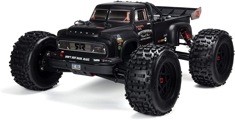Arrma 1/8 Notorious 6S V5 4WD BLX Stunt RC Truck with Spektrum Firma RTR