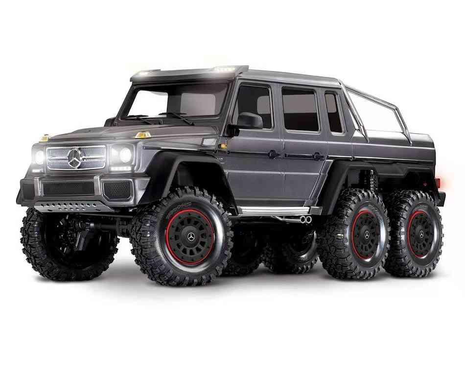Traxxas-TRX-6-1/10-6x6-Trail-Crawler-Truck-Mercedes-Benz-G-63-AMG-Body(Silver)-w/TQi-2.4GHz-Radio-System